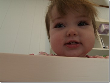 Calra over her crib