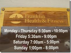 Franklin Fitness Center Hours