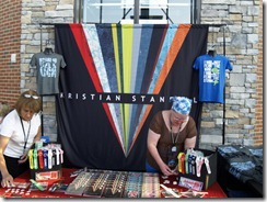 Kristian Stanfill Merchandise Table