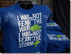 I will not fear war I will not fear the storm