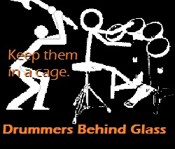 DrummersBehindGalss