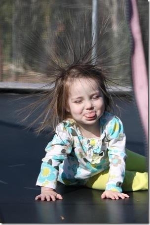 Cute Kid, Static Hair