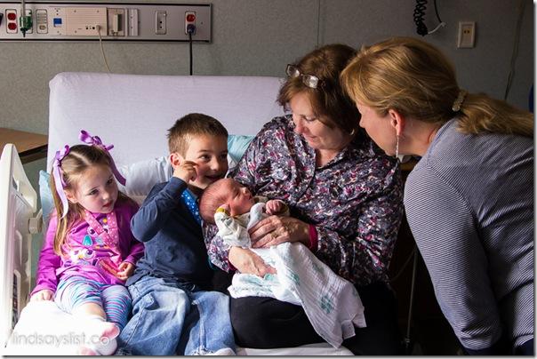 Both GrandMothers With Newborn Baby