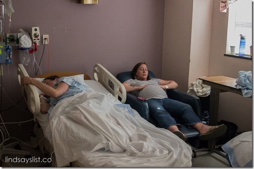 Two sisters in labor together