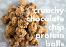 crunchy chocolate chip cookie protein balls