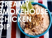 creamy smokehouse chicken dip